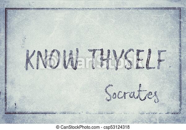cyan, socrates, thyself, savoir - csp53124318