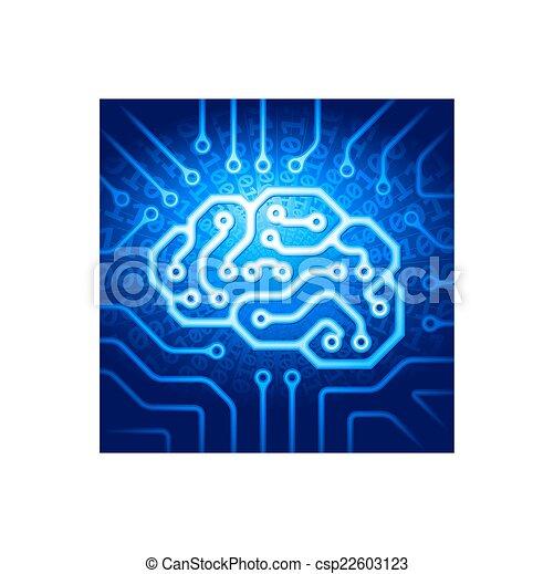 Cyber brain - csp22603123