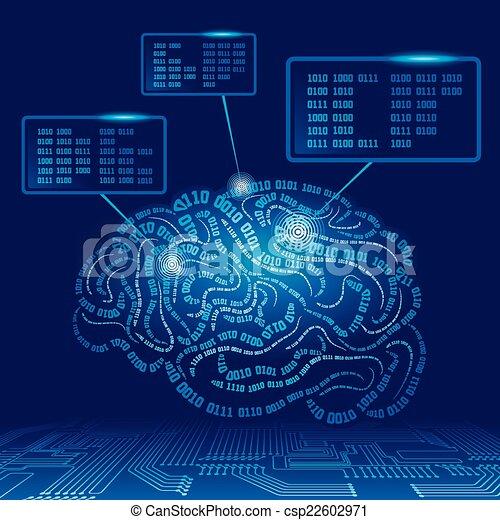 Cyber brain - csp22602971