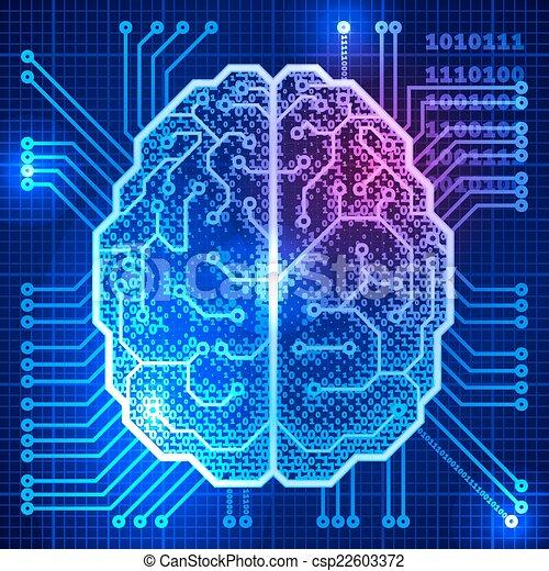 Cyber brain - csp22603372