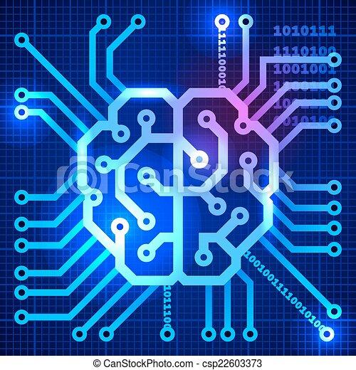 Cyber brain - csp22603373