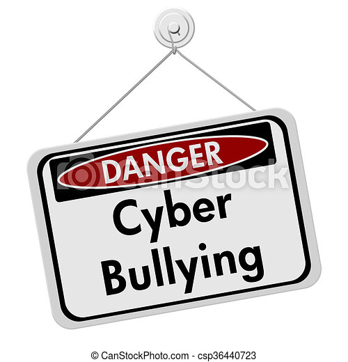 cyber bullying danger sign a white danger hanging sign with clip rh canstockphoto com stop cyber bullying clipart cyber bullying pictures clip art
