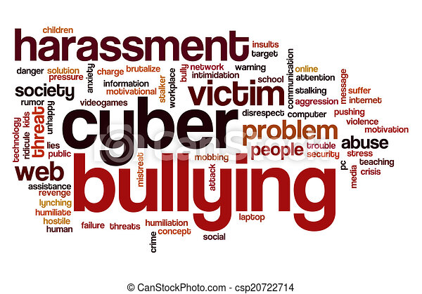 cyber bullying word cloud cyber bullying concept word cloud background rh canstockphoto com cyber bullying pictures clip art Stop Cyberbullying