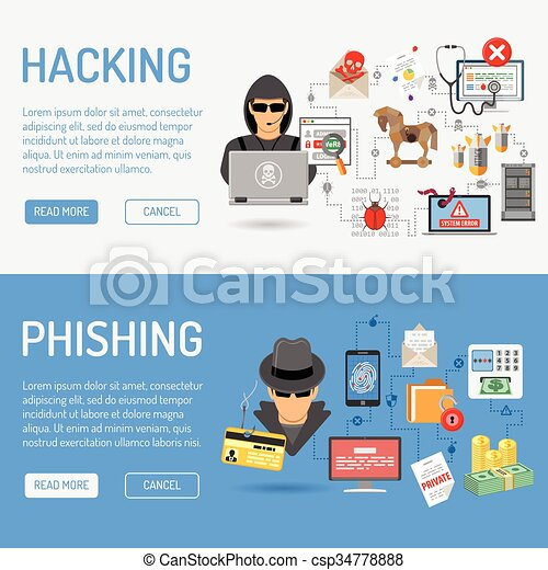 Cyber Crime Banners - csp34778888