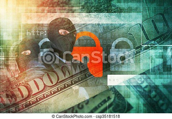 Cyber Crime Concept - csp35181518
