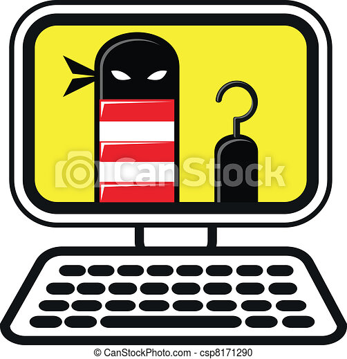 illustration of cyber crime vector clipart search illustration rh canstockphoto ca crime clipart free crime prevention clipart free