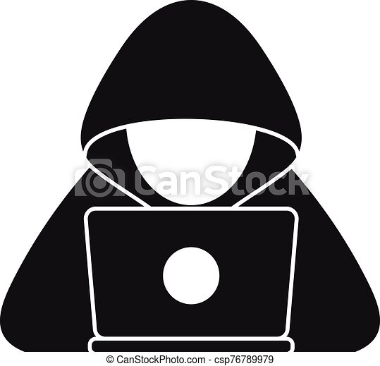 cyber hacker icon simple style cyber hacker icon simple illustration of cyber hacker vector icon for web design isolated https www canstockphoto com cyber hacker icon simple style 76789979 html