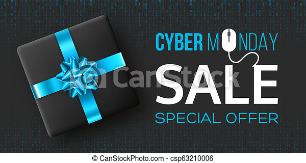 Cyber monday sale poster or banner. - csp63210006