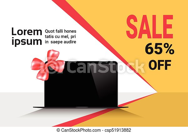cyber monday sale template banner discounts on modern laptop