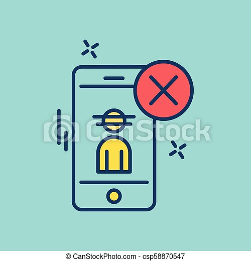 Cyber security creative colored icon with blue background - csp58870547