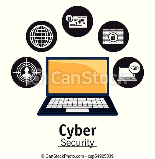 cyber security technology data privacy network - csp54925339