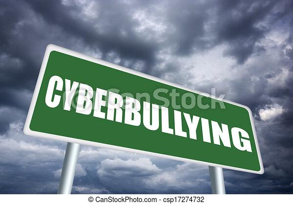 Cyberbullying sign - csp17274732