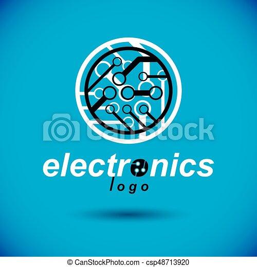 Cybernetic element. vector abstract circular circuit board... vector ...