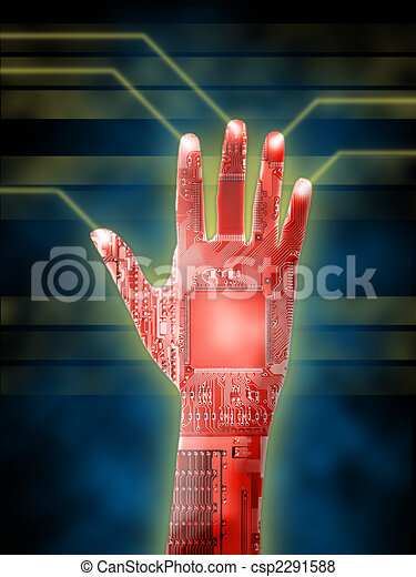 Cybernetic hand - csp2291588