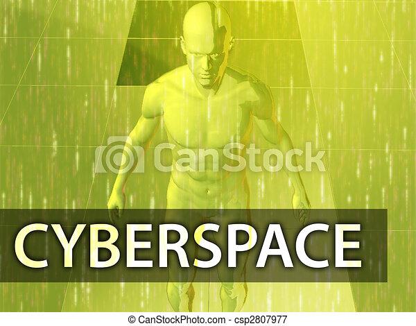 cyberspace, illustratie - csp2807977