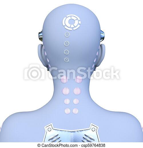 Cyborg Woman vom 3D-Modell - csp59764838