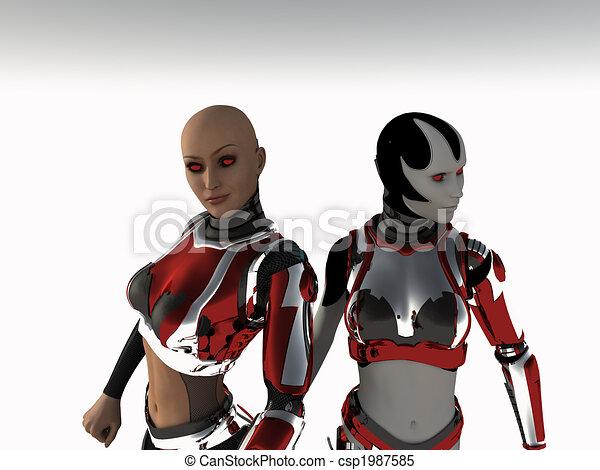Cyborg-Frau - csp1987585