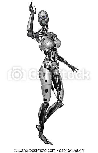 Cyborg-Frau - csp15409644
