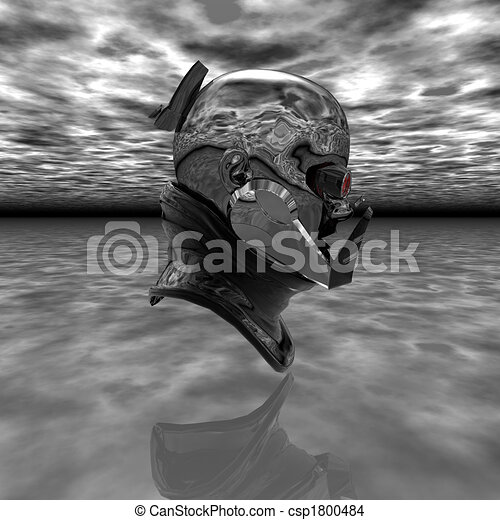 cyborg head - csp1800484