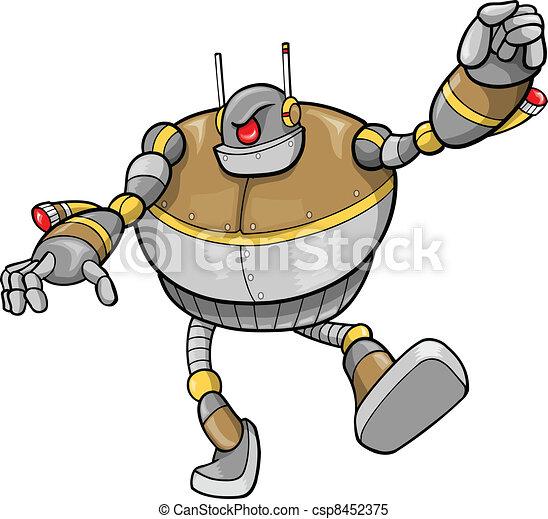 cyborg, vector, robot, illustratie - csp8452375