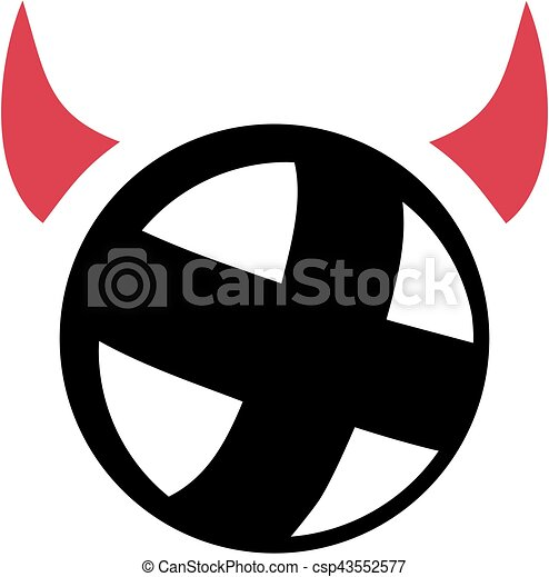 Cycle Ball With Devil Horns Vectors Illustration Search Clipart