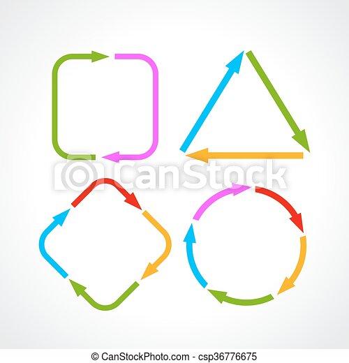 Cycle process diagram - csp36776675