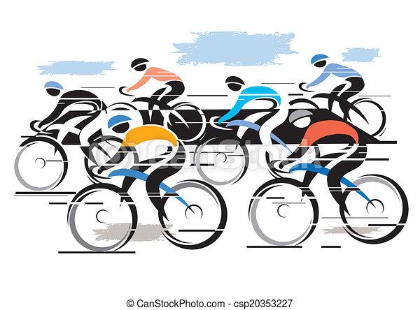 Cycle race peleton - csp20353227