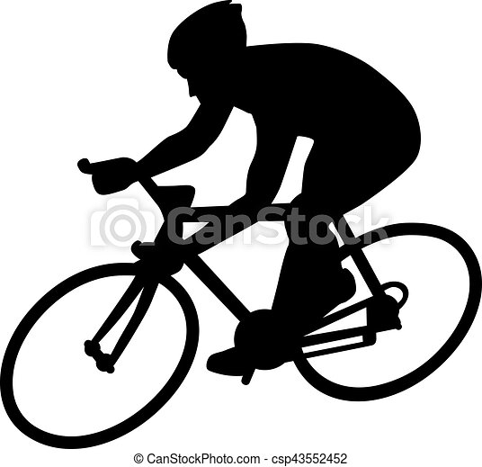 Cycle Racing Silhouette