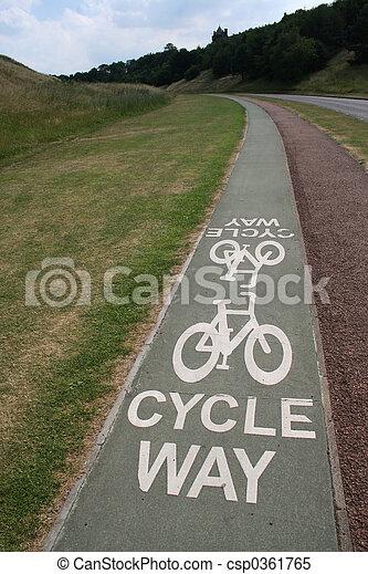 Cycle way - csp0361765
