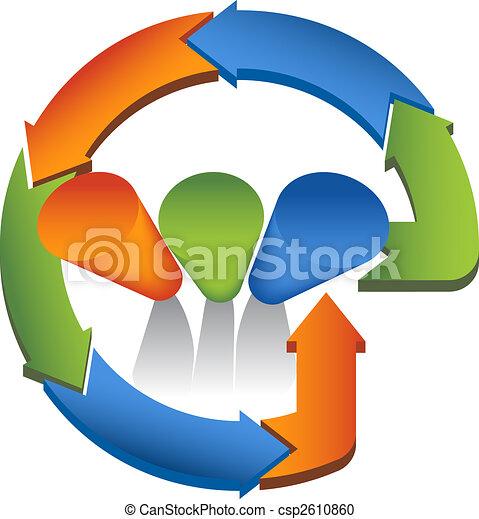 cycling graph arrows - csp2610860