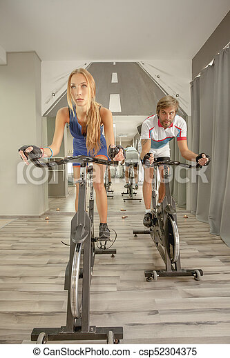 Cycling Gym Sexy Woman Man - csp52304375