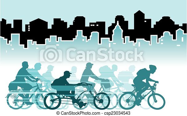Cycling in the city - csp23034543