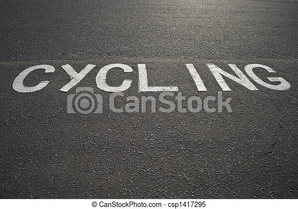 cycling, meldingsbord - csp1417295