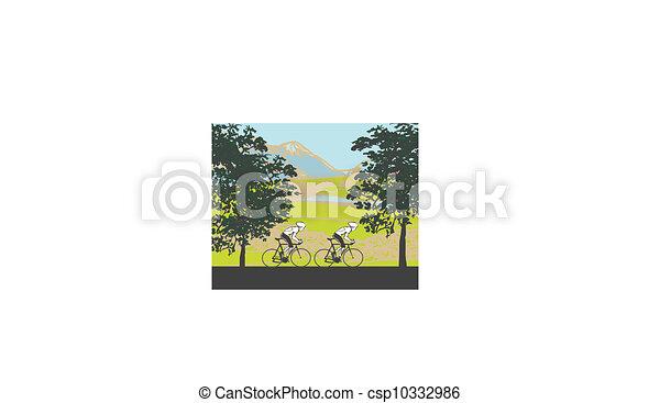 Cycling Poster  - csp10332986