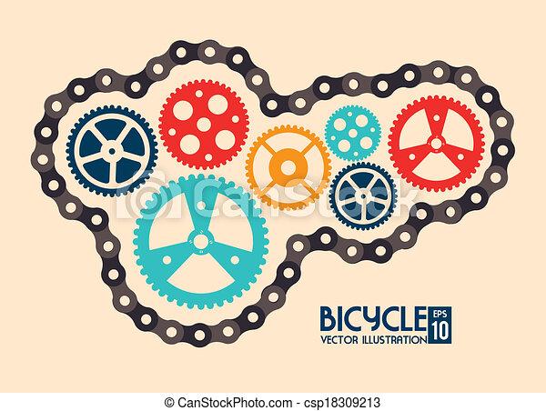 cyclisme, conception - csp18309213
