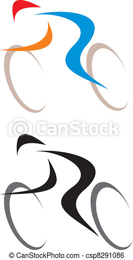Cyclist - isolated vector icon - csp8291086