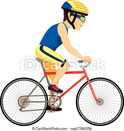 cyclist man professional young professional man cyclist cycling rh canstockphoto com cyclist clipart black and white cycle clipart