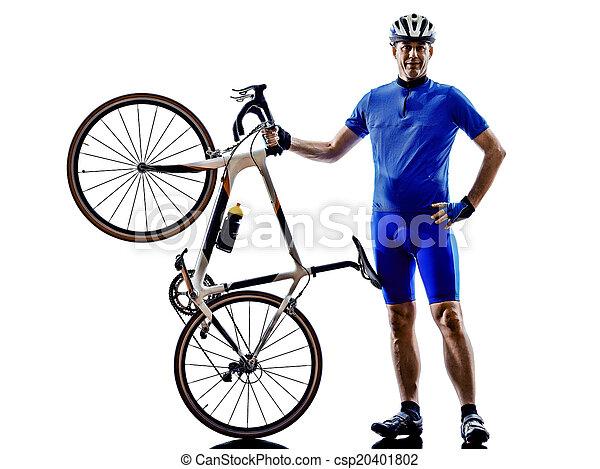 cyclist silhouette - csp20401802