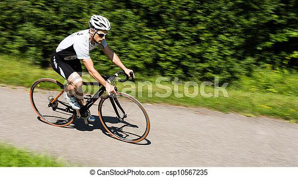 cyclist - csp10567235