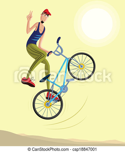 Cycliste acrobatie sauts confection air cycliste - Cycliste dessin ...