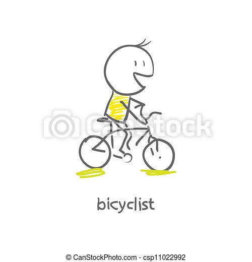 cycliste - csp11022992