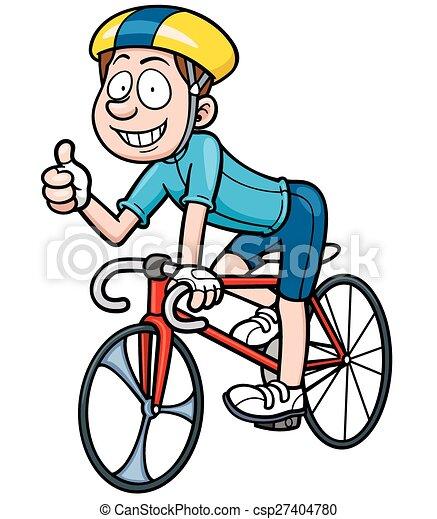 Cycliste vecteur dessin anim illustration vecteur - Cycliste dessin ...