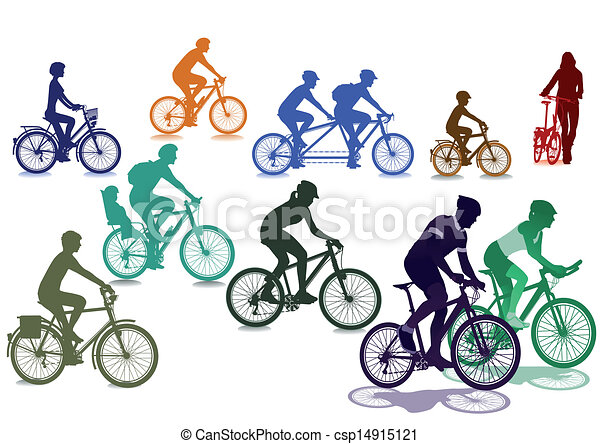 Cyclists and bicycles - csp14915121