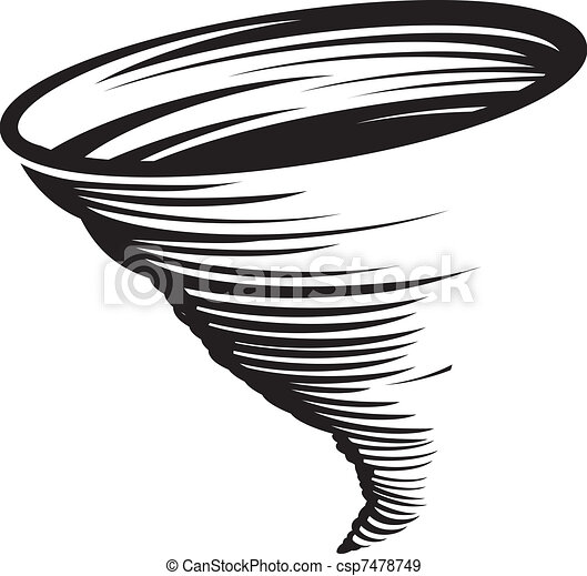cyclone a stylized black and white whirlwind or tornado eps vectors rh canstockphoto com tornado clipart pictures tornado clipart free