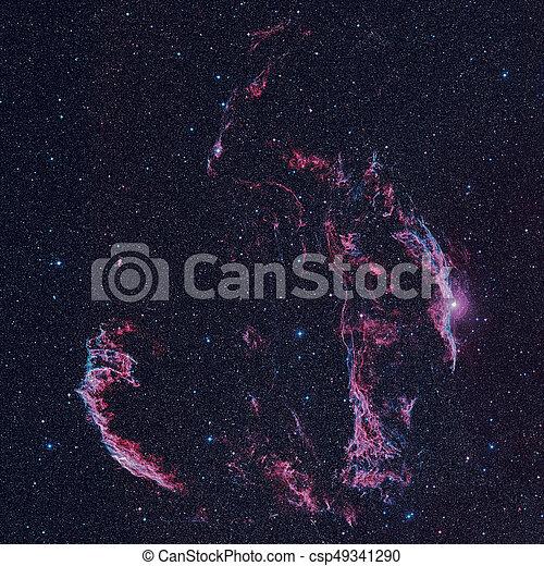 cygnus, supernova, nébuleuse, voile, reste, constellation - csp49341290