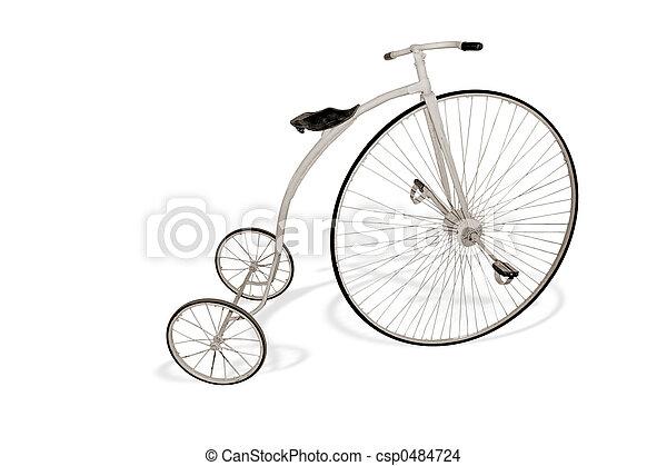 cykel, retro - csp0484724