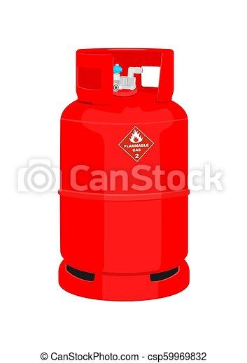 cylinder., ガス, 赤 - csp59969832