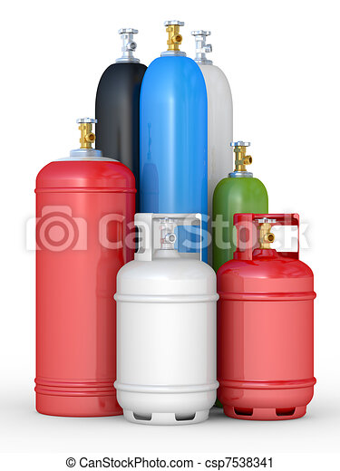 Cylinders with the compressed gases - csp7538341