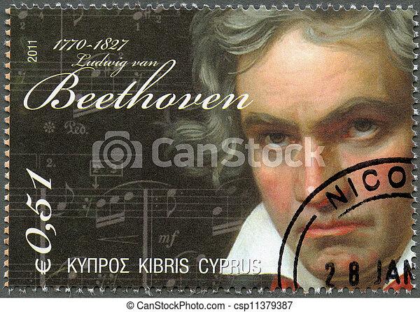 CYPRUS - 2011 : shows Ludwig van Beethoven (1770-1827) - csp11379387