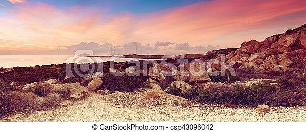 Cyprus beautiful sunrise - csp43096042
